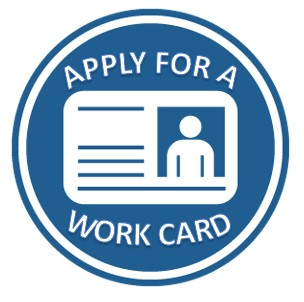 If you are applying to work for a company you must complete a WORK CARD application Request Document Remediation - WORK CARD application.